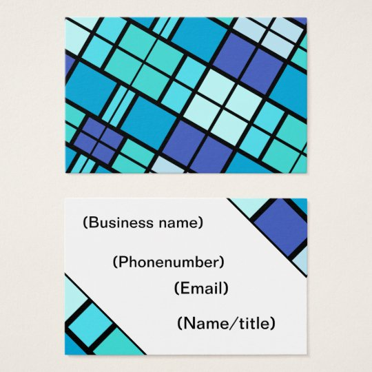 Blue pattern business card