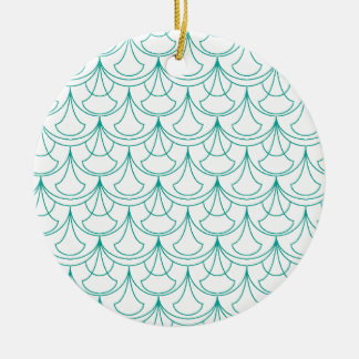 Blue Pattern Ceramic Ornament