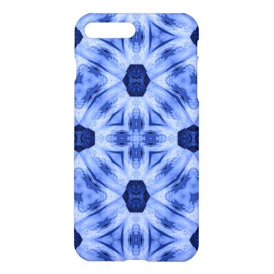 Blue Pattern cool shapes iPhone 7 Plus Case