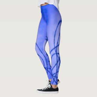 Blue pattern design leggings