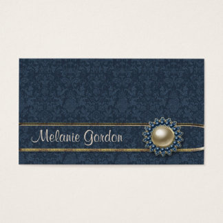 Blue Pattern Jewel Business Card