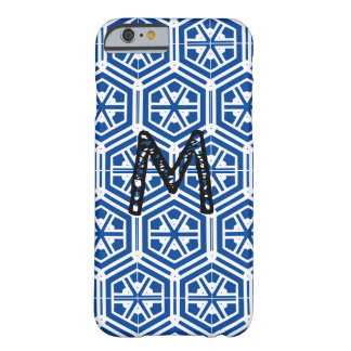 blue pattern monogram barely there iPhone 6 case