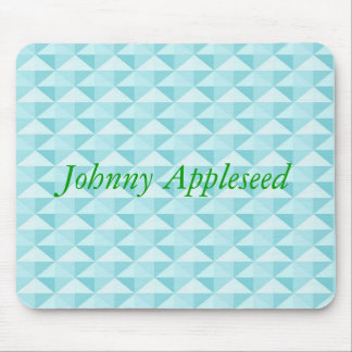 Blue pattern mouse pad with name