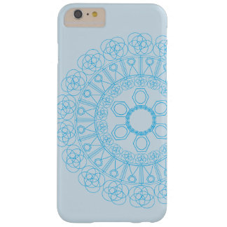 Blue pattern of endless circle and shapes barely there iPhone 6 plus case