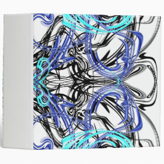 blue pattern office binder