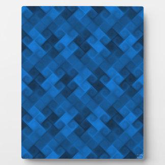 Blue Pattern Plaque