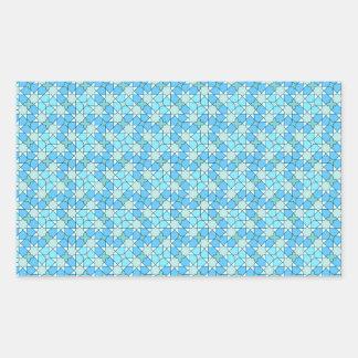 blue pattern rectangle sticker