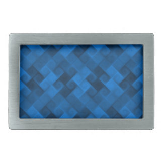 Blue Pattern Rectangular Belt Buckle