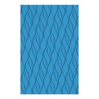 Blue pattern stationery paper