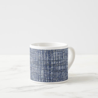 Blue pattern with textile texture espresso cup