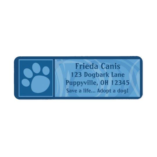Blue Paw Print Address Labels