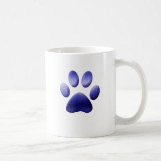 Blue Paw Print Coffee Mug