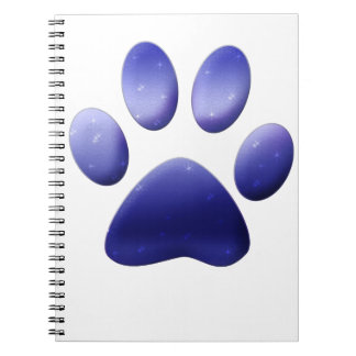 Blue Paw Print Notebook