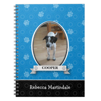 Blue Paw Print Pet Notebook