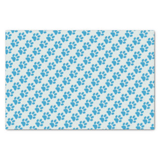 Blue Paw Prints Tissue Paper