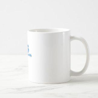 blue PEACE Basic White Mug