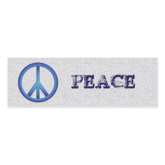 Blue Peace Bookmarks Pack Of Skinny Business Cards