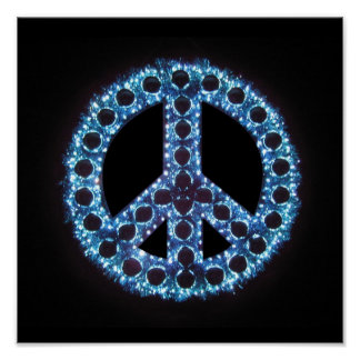 blue peace canvas print