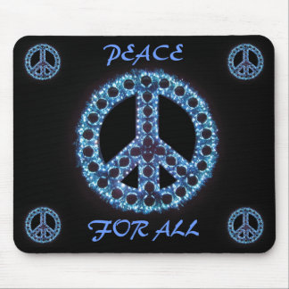blue peace for all mousepad