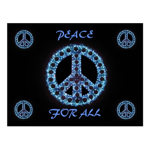 blue peace for all postcard
