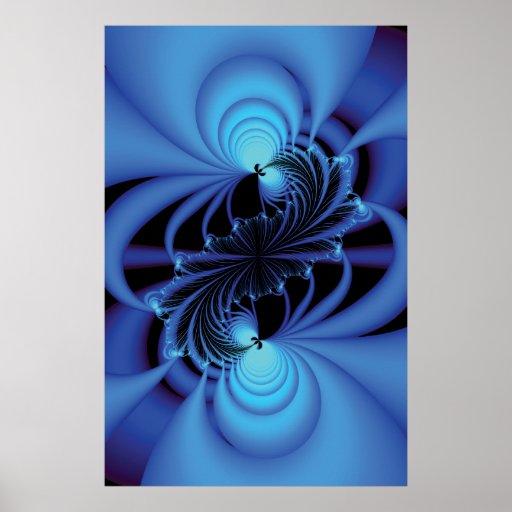 Blue Peace Fractal Poster