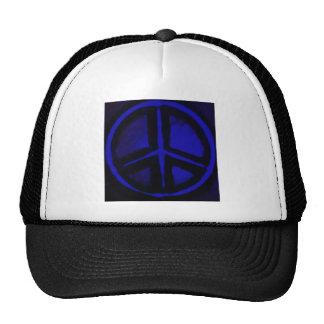 Blue Peace Mesh Hat
