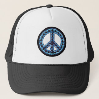 blue peace hat