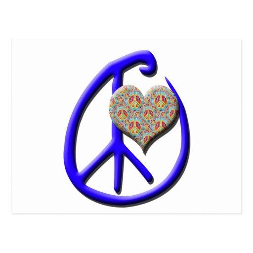 Blue Peace, Heart Postcards