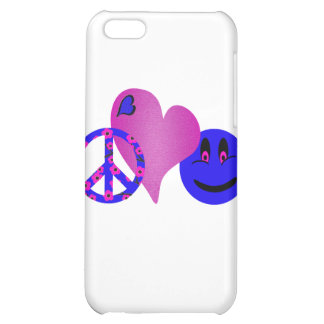 Blue Peace Love Happiness iPhone 5C Covers