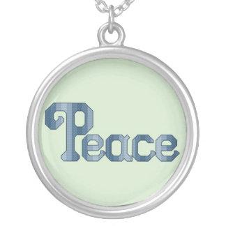 Blue Peace Necklace