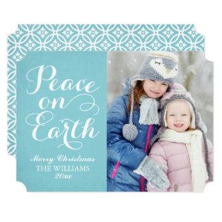 Blue Peace on Earth | Holiday Photo Card