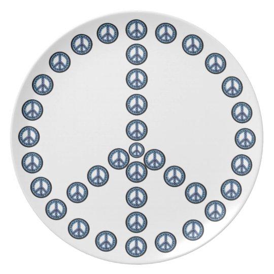 Blue Peace Plate