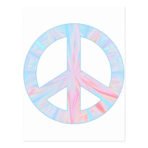 blue peace post card