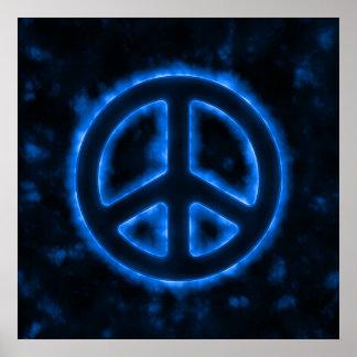Blue Peace Sign