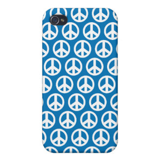 blue peace sign 4G iPhone 4 Covers