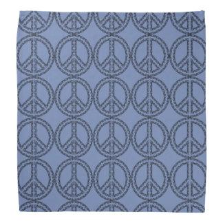 Blue Peace Sign Bandanna
