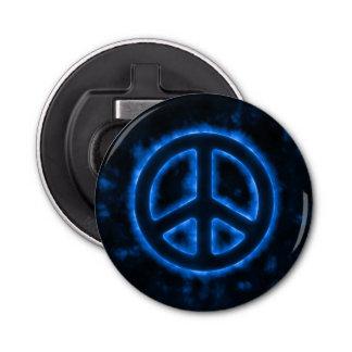 Blue Peace Sign Bottle Opener