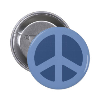Blue Peace Sign Pins