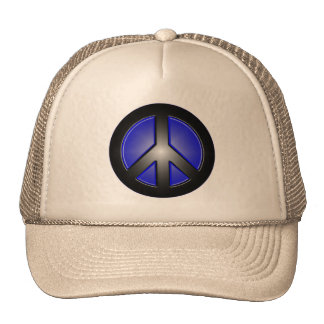 blue peace sign hats