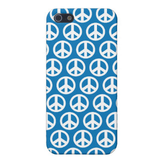 blue peace sign iPhone 5/5S cover