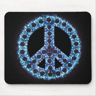 blue peace sign mousepad