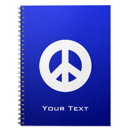 Blue Peace Sign Journal