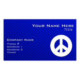 Blue Peace Sign Pack Of Standard Business Cards