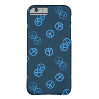 Blue Peace Sign Pattern Barely There iPhone 6 Case