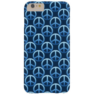 Blue Peace Sign Pattern Barely There iPhone 6 Plus Case