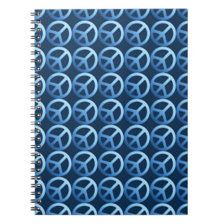 Blue Peace Sign Pattern Note Books
