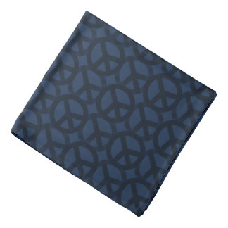 Blue Peace Sign Pattern Bandana