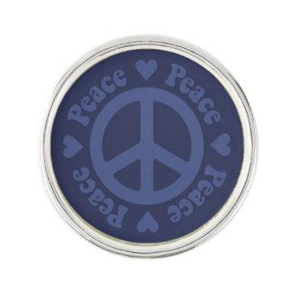 Blue Peace Sign Lapel Pin