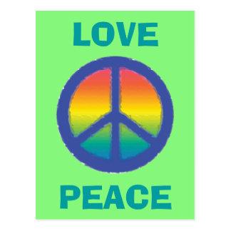 Blue Peace  Sign Postcard