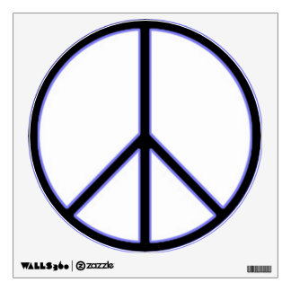 Blue Peace Sign Wall Sticker